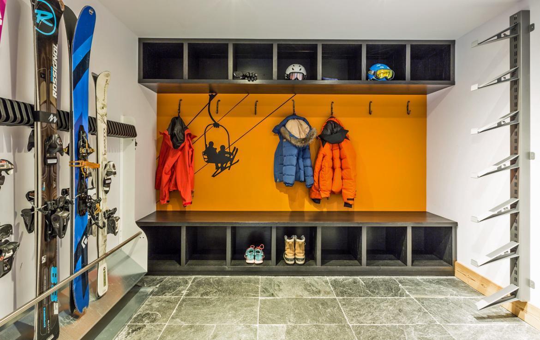 ski room in chalet chamonix