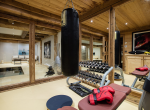 chalet gentianes courchevel gym