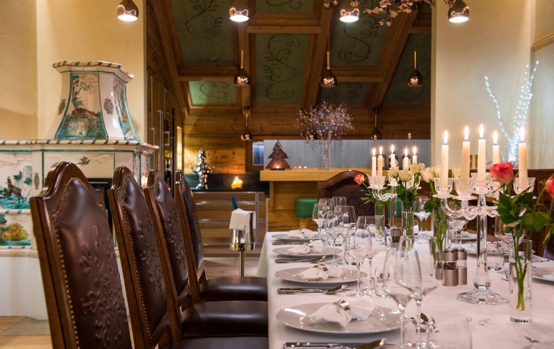 dining-austria-lech-chalet to rent