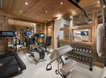 gym in chalet grand roche courchevel