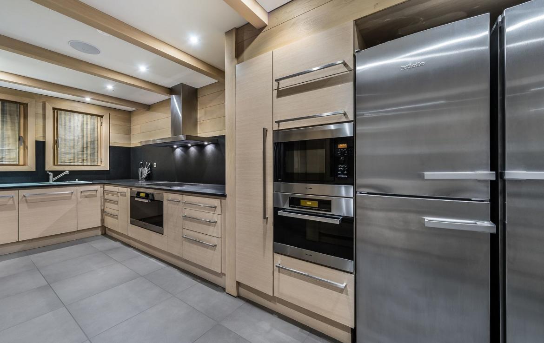 luxe keuken chalet courchevel