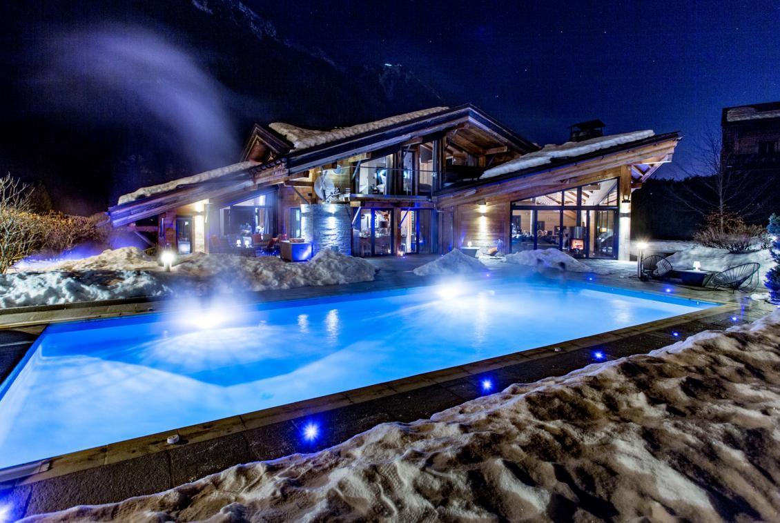 stunning pool chalet chamonix