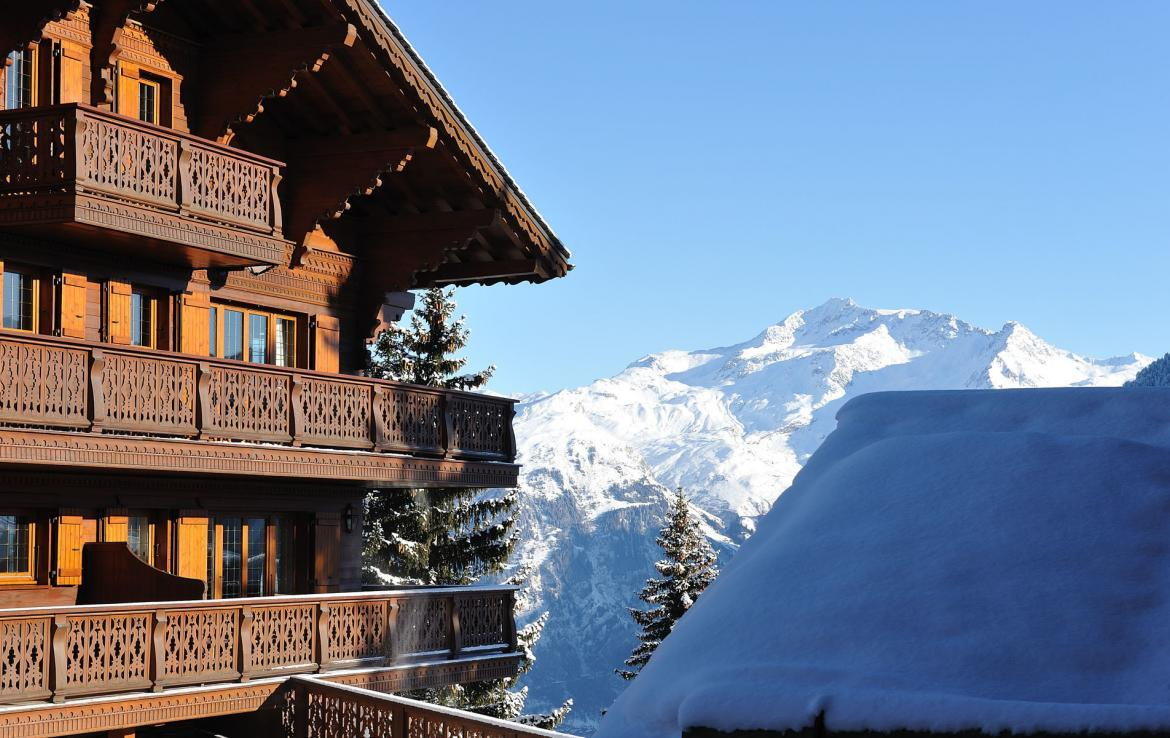 balcony in courchevel with a view