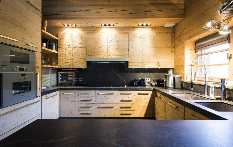 keuken chalet indigo megeve