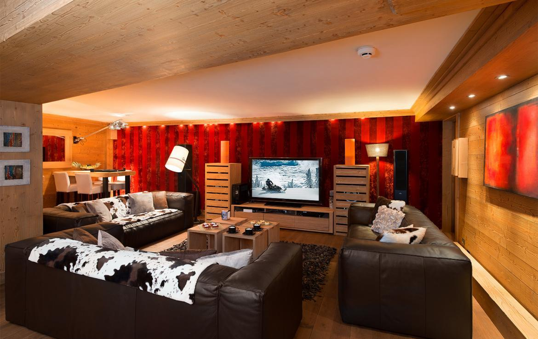 tv room chalet meribel