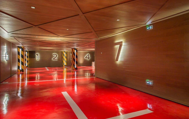 indoor parking garage courchevel